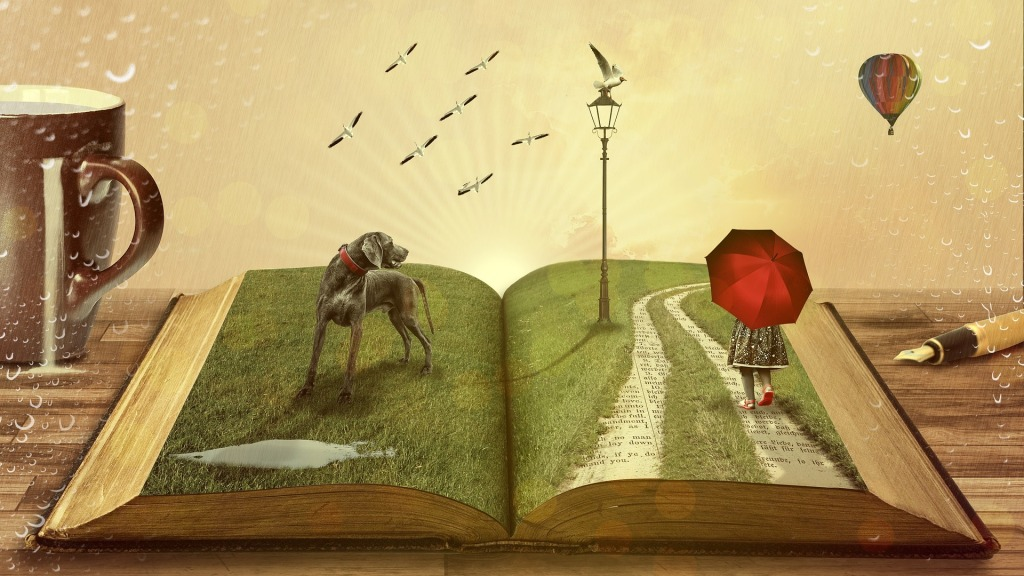 Zeichnung eines aufgeschlagenen Buches.