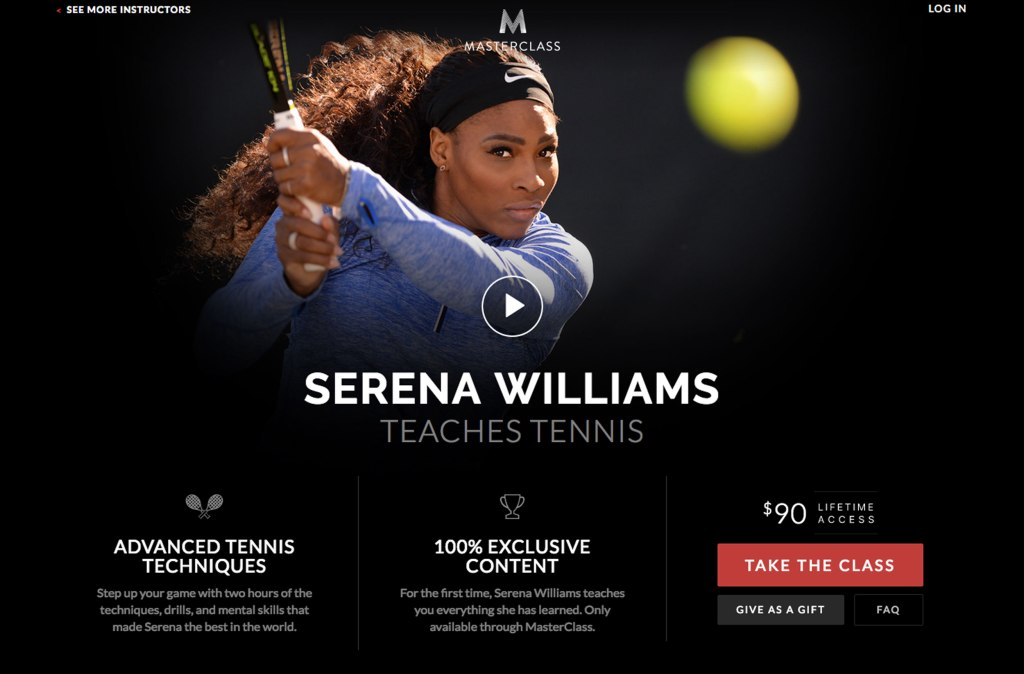 Wie man Tennisspielen lernen soll allein vor dem Computer sitzend, bleibt das Geheimnis von Masterclass. (Bild: Screenshot)